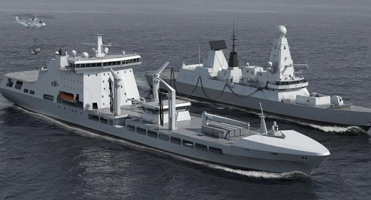 MARS Tanker and Type 45 Destroyer