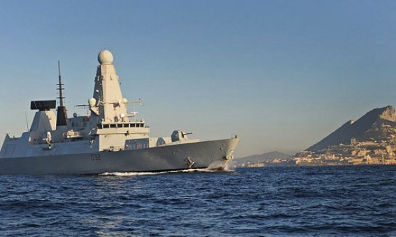 HMS Diamond, Gibraltar