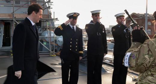 George Osbourne visits HMS Defender
