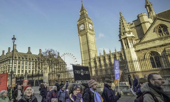 CND protest Parliament