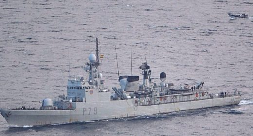 Spanish Warship Gibraltar waters