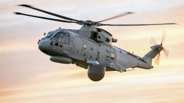 CGI depicting Merlin HM2 configured with Cerberus radar