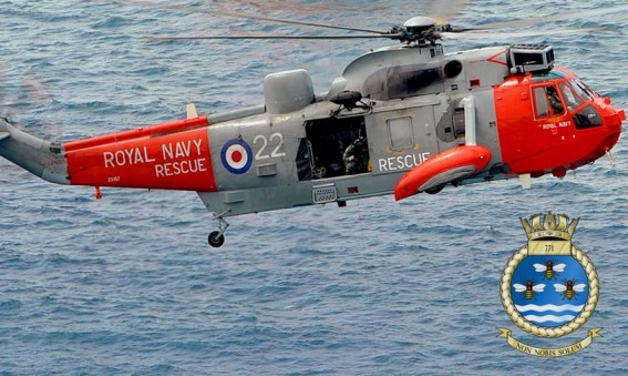 771 Naval Air Squadron Sea King Helicopter