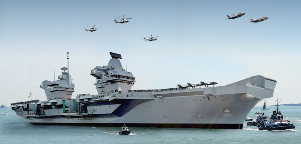 HMS Queen Elizabeth arrives Portsmouth