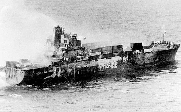 Altantic-Conveyor-hit-by-Exocet-missile-Falklands