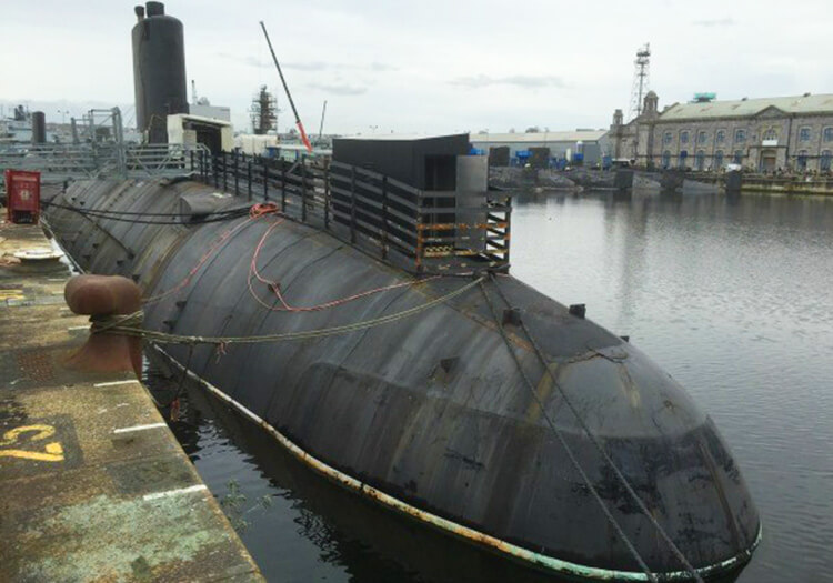 Former Cold War era nuclear submarine HMS Courageous is berthed in Devonport and open to visitors periodically