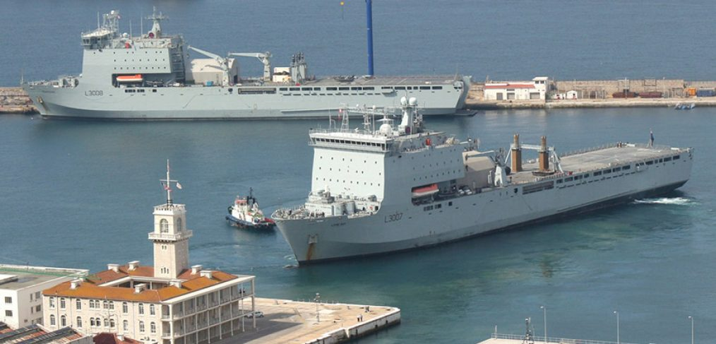 RFA Lyme Bay and Mount Bay - Gibraltar