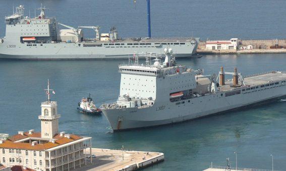 RFA Lyme Bay and Mount Bay - Gibraltar
