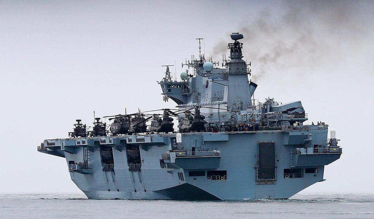 HMS Ocean, Devonport