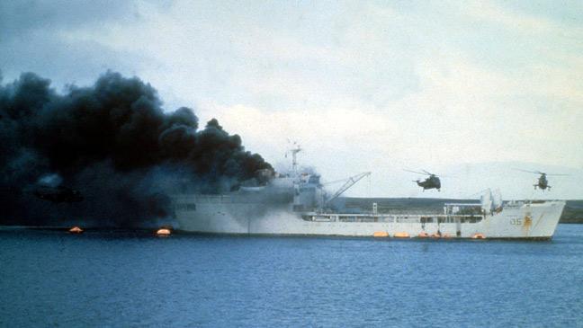 RFA Sir Galahad, Bluff Cove, Falklands War 1982