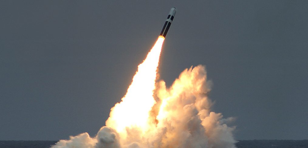 Submarine Trident missile launch