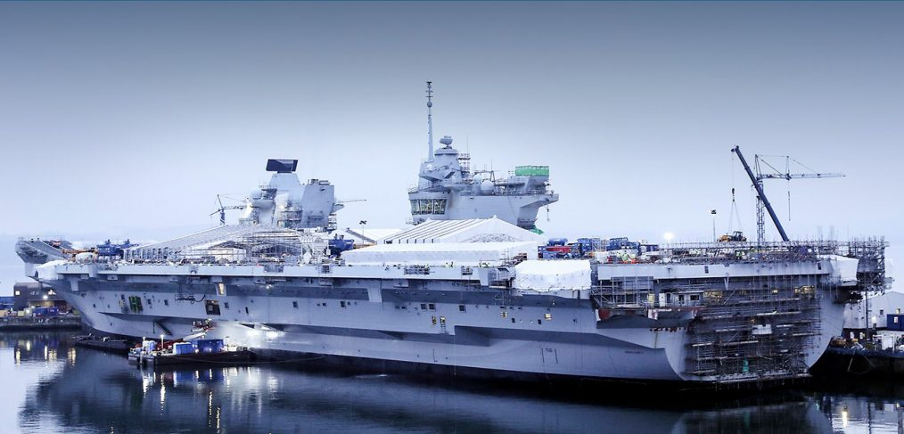HMS Queen Elizabeth nearing completion in Rosyth