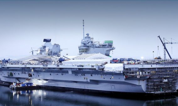 HMS Queen Elizabeth nearing completion in Rosyth