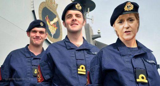 Nicola Sturgeon Royal Navy