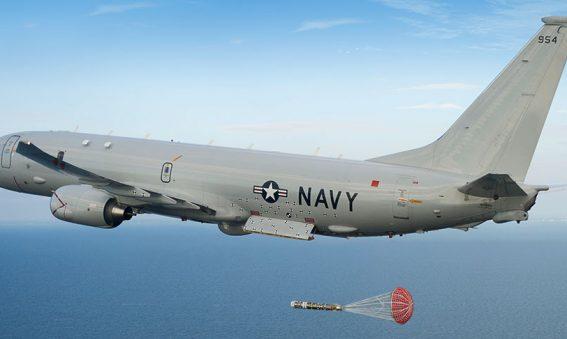 P-8A drops Mk54 torpedo