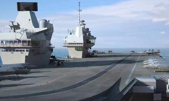 HMS Queen Elizabeth flight deck