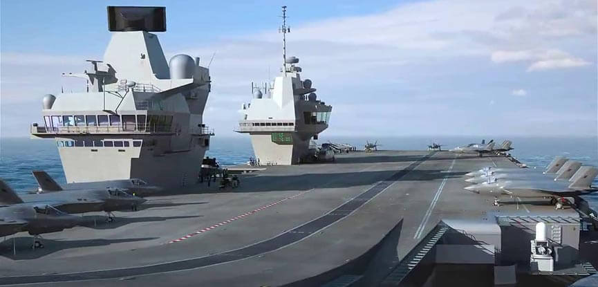 HMS Queen Elizabeth flight deck