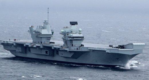 HMS Queen Elizabeth at sea