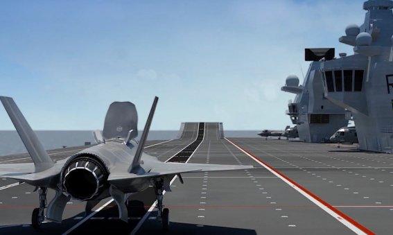 f-25 take off HMS Queen Elizabeth