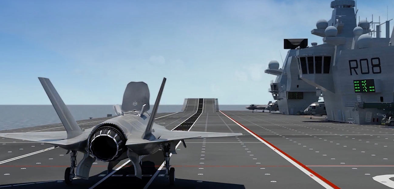 f-25 take off HMS Queen Elizabeth