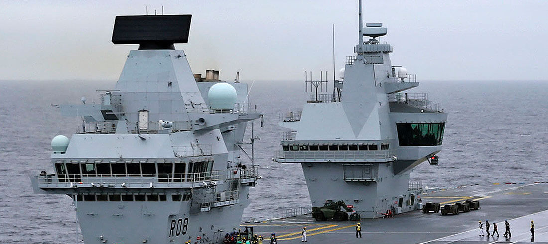 The reasons HMS Queen Elizabeth has two islands   Save the