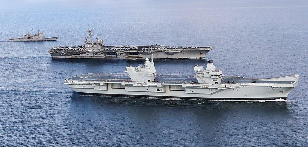 HMS Queen Elizabeth and USS George HW Bush