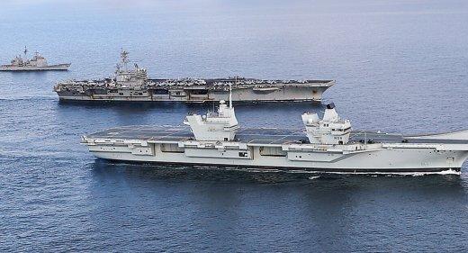 HMS Queen Elizabeth and USS George HW Bush