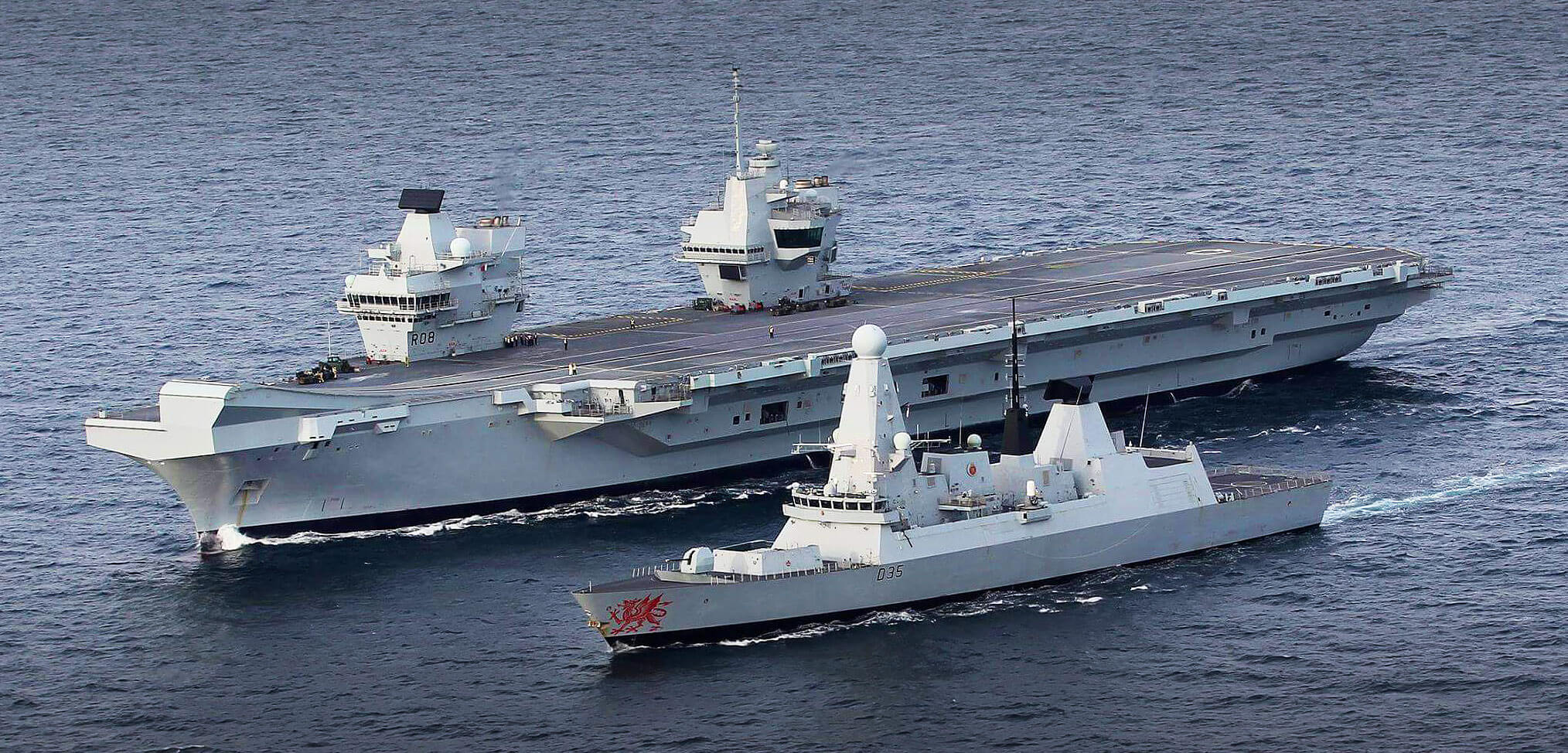 HMS Queen Elizabeth HMS Dragon