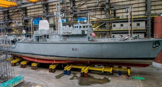 HMS Quorn minehunter