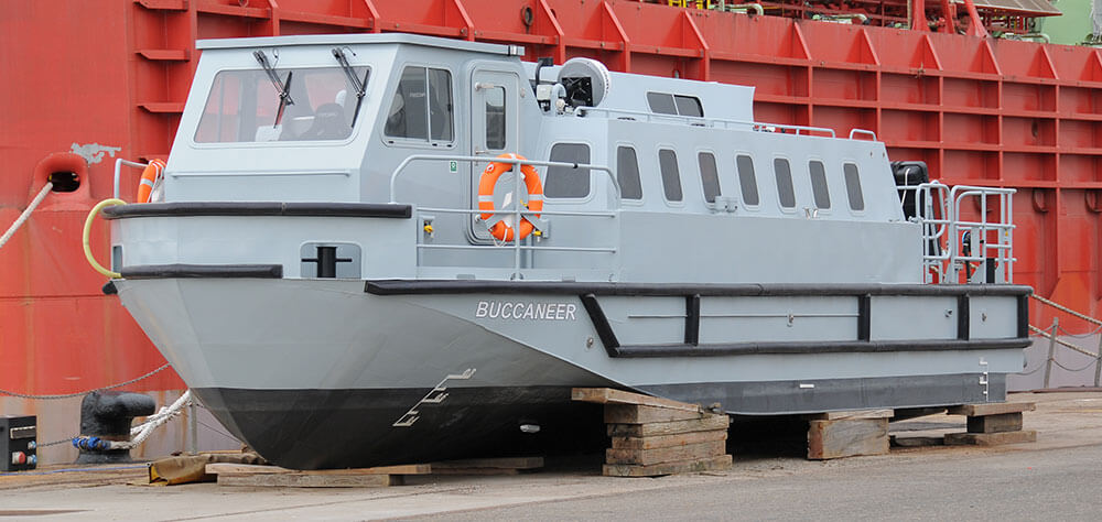 one of HMS Queen Elizabeth's passenger Transfer boats'Buccanneer'