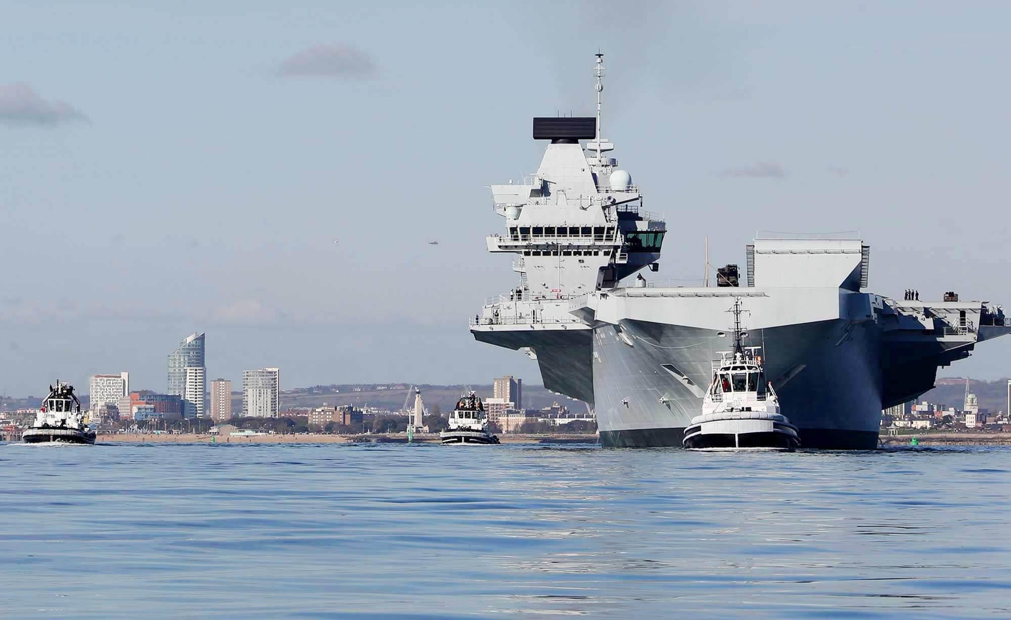 HMS Queen Elizabeth in the Solent