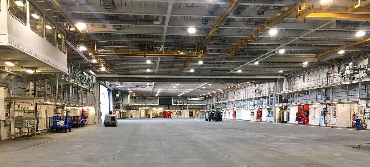 HMS Queen Elizabeth Hangar