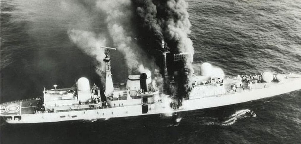 HMS Sheffield Falklands war