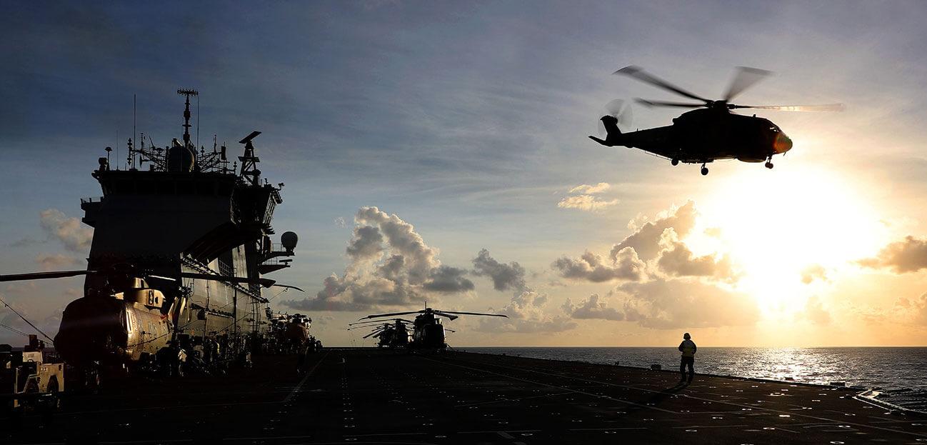 Merlin Helicopter HMS Ocean