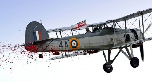 Remembrace 2017 - Swordfish dropping poppies