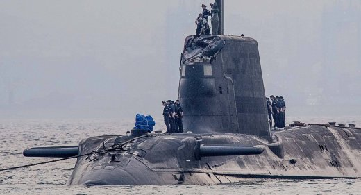 HMS Ambush eneters Gibraltar with collision damage July 20 2016