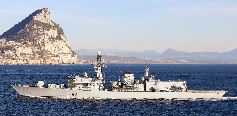 HMS Somerset Gibraltar