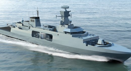 Leander concept for Royal Navy Type 31e Frigate