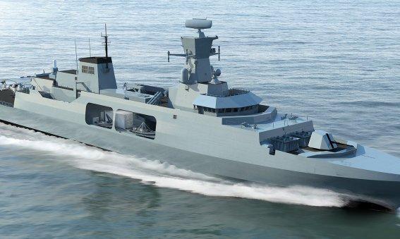 Leander concept for Royal Navy Type 31e Frigate