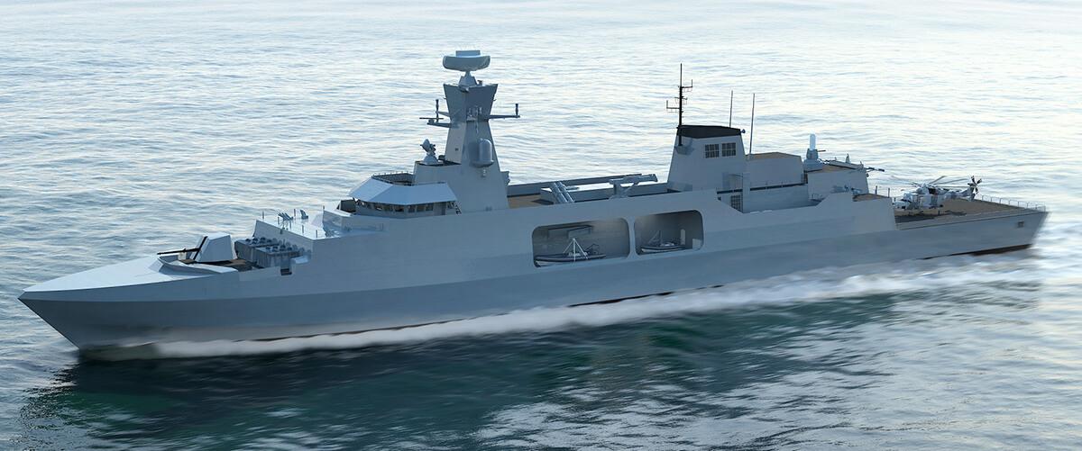 Leander concept for Royal Navy Type 31e Frigate inspires