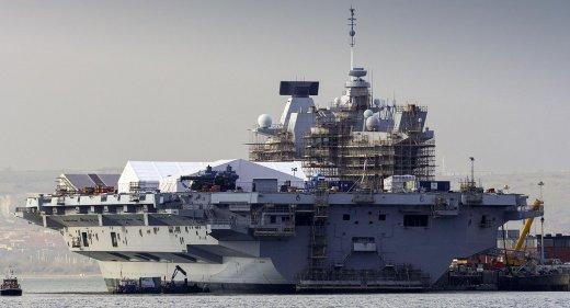 HMS Queen Elizabeth Portsmouth Capability Insertion Period