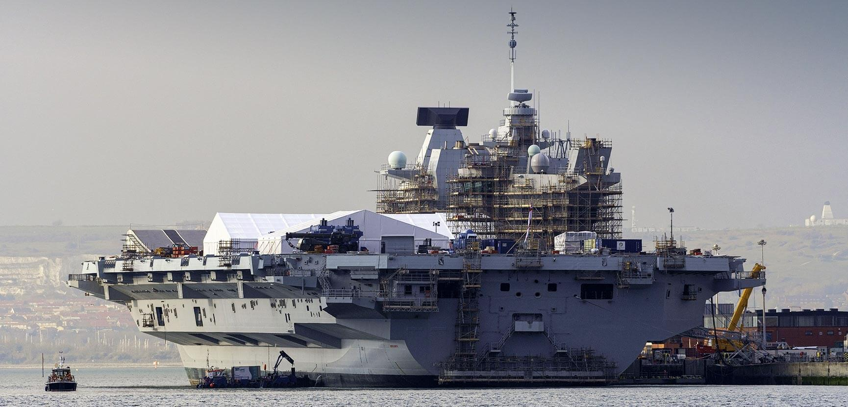 HMS Queen Elizabeth Portsmouth Capability Insertion Period