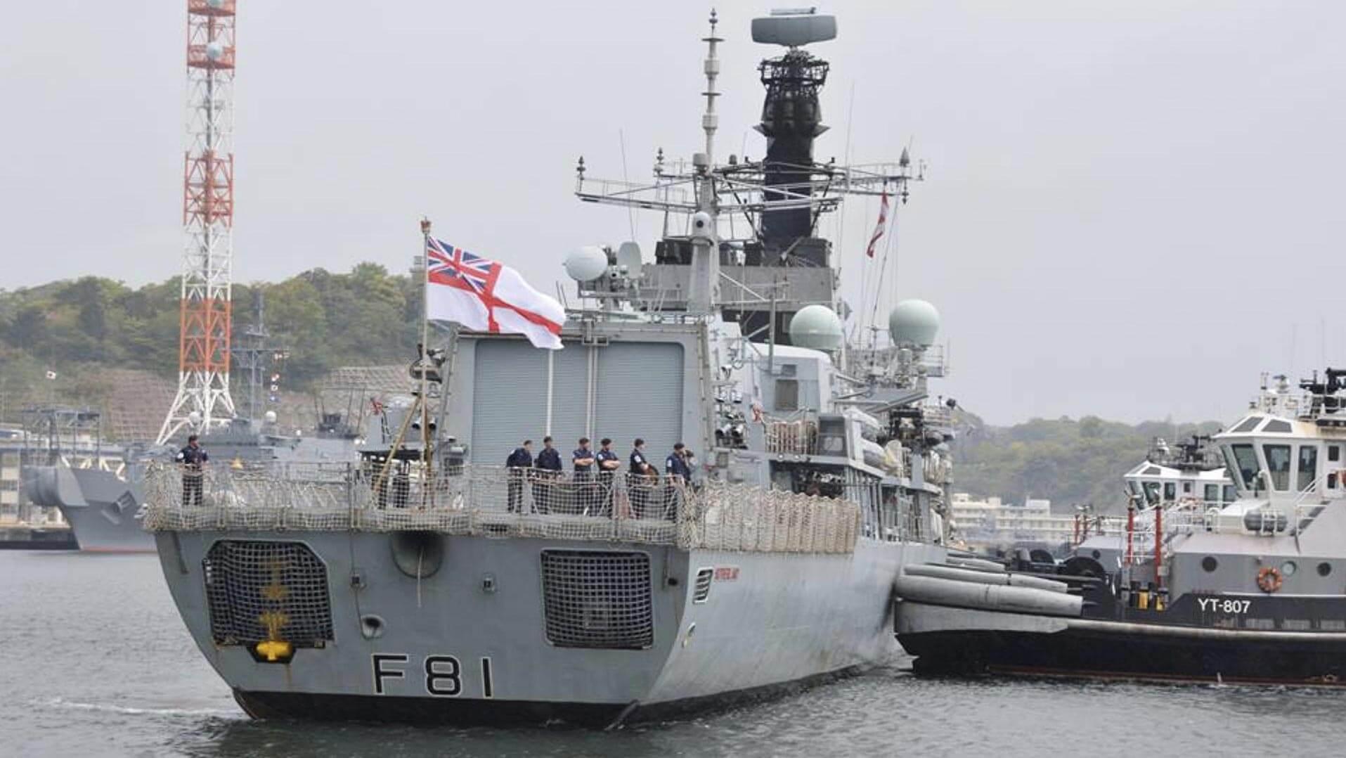 HMS Sutherland in Japan