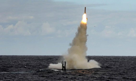 Royal Navy Submarine fires Tomahawk missile