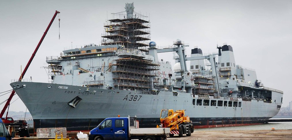 RFA Fort Victoria refit at Cammel Laird