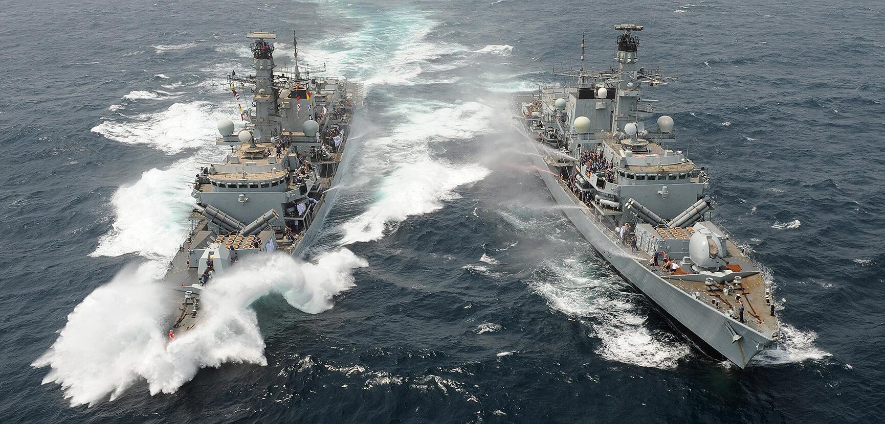 HMS Iron Duke and HMS St Albans