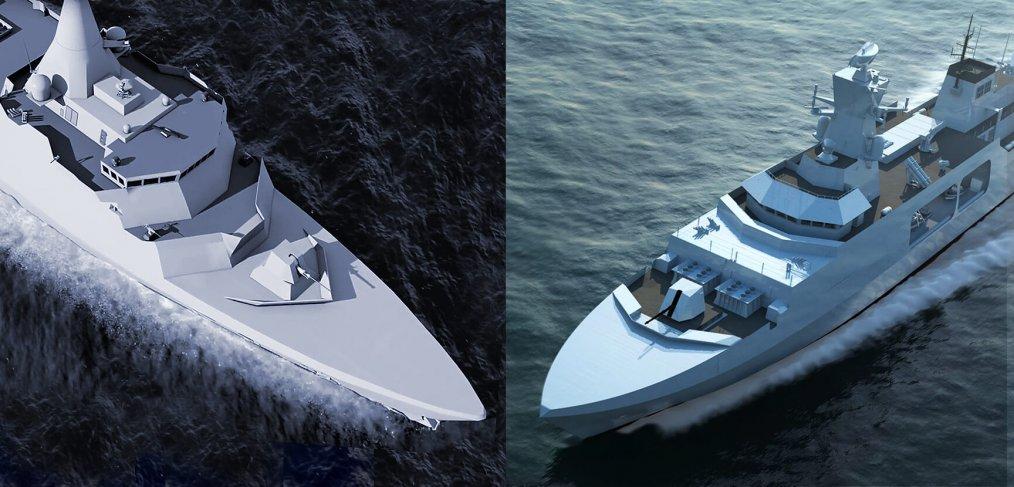 Arrowhead V Leander - Type 31e frigate cadidates