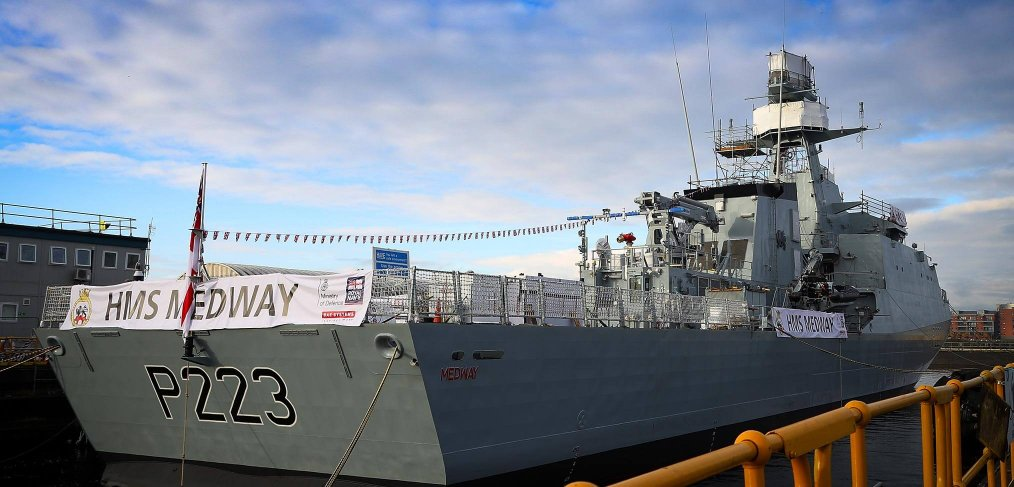 HMS Medway naming ceremony