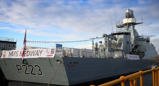 HMS Medway naming ceremony