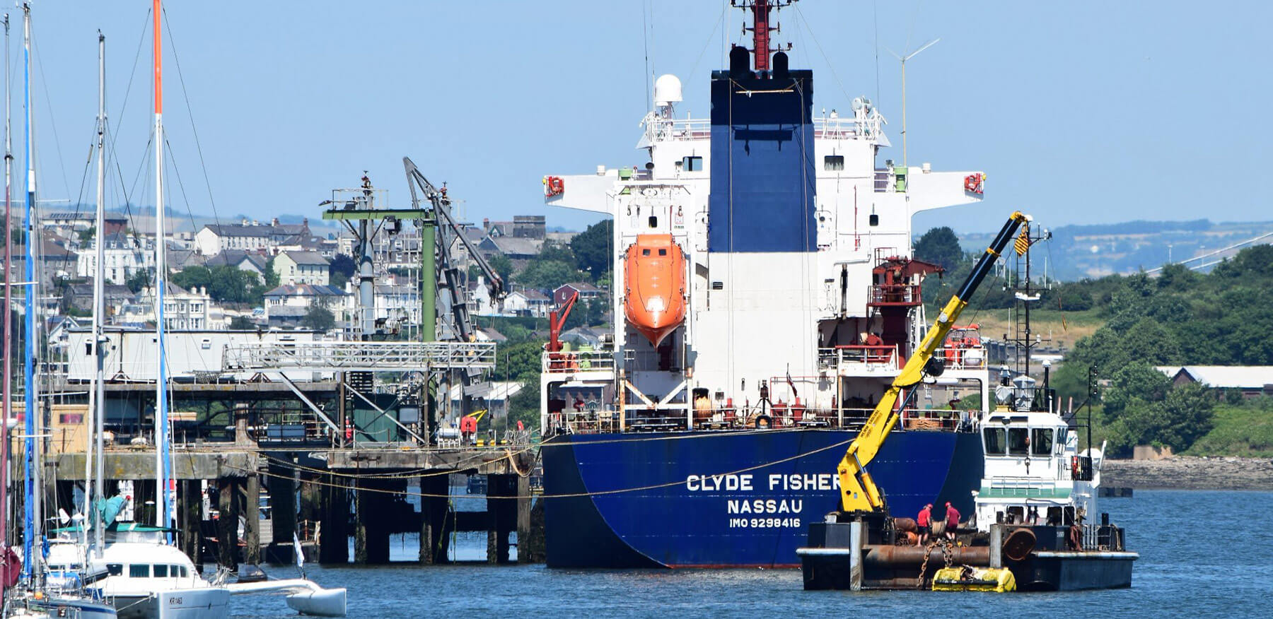 MV Clyde Fisher at Yonderberry Jetty